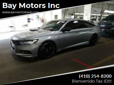 2020 Honda Accord for sale at Bay Motors Inc in Baltimore MD