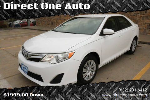 2014 Toyota Camry for sale at Direct One Auto in Houston TX