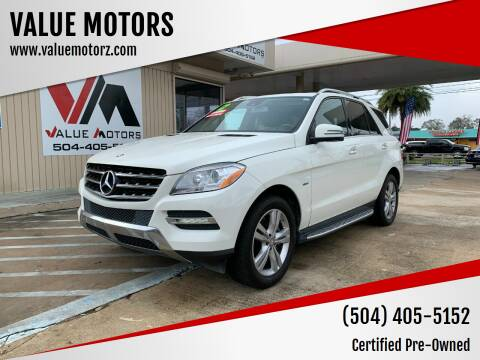 2013 Mercedes-Benz M-Class for sale at VALUE MOTORS in Kenner LA