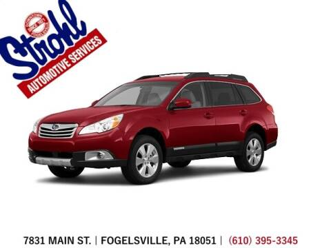 2011 Subaru Outback for sale at Strohl Automotive Services in Fogelsville PA