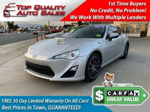 2013 Scion FR-S for sale at Top Quality Auto Sales in Redlands CA