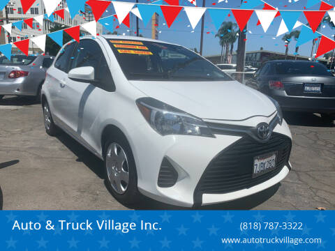 2015 Toyota Yaris for sale at Auto & Truck Village Inc. in Van Nuys CA