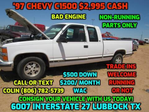 1997 Chevrolet C/K 1500 Series for sale at West Texas Consignment in Lubbock TX