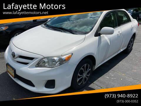 2011 Toyota Corolla for sale at Lafayette Motors in Lafayette NJ