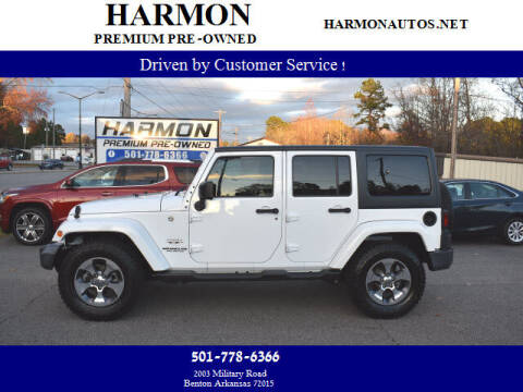 2016 Jeep Wrangler Unlimited for sale at Harmon Premium Pre-Owned in Benton AR