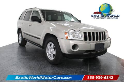 2007 Jeep Grand Cherokee for sale at Exotic World Motor Cars in Addison TX