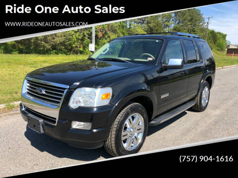 2008 Ford Explorer for sale at Ride One Auto Sales in Norfolk VA