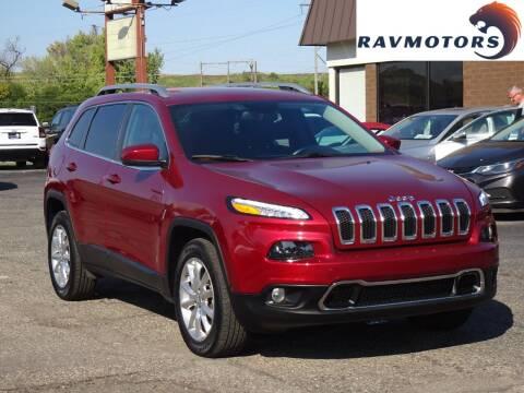 2017 Jeep Cherokee for sale at RAVMOTORS in Burnsville MN