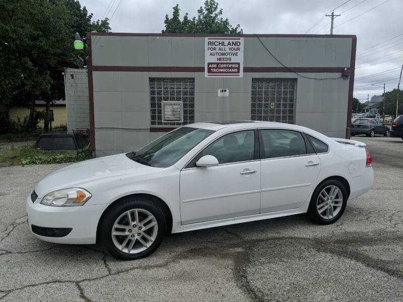 2013 Chevrolet Impala for sale at Richland Motors in Cleveland OH