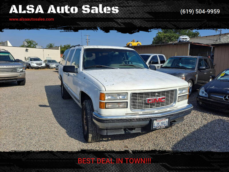 1995 GMC Suburban for sale at ALSA Auto Sales in El Cajon CA