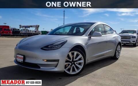 2018 Tesla Model 3 for sale at Meador Dodge Chrysler Jeep RAM in Fort Worth TX