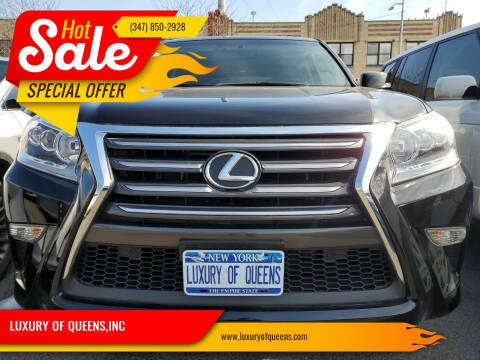 2018 Lexus GX 460 for sale at LUXURY OF QUEENS,INC in Long Island City NY