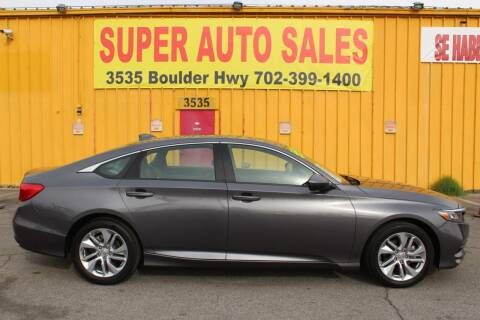 2020 Honda Accord for sale at Super Auto Sales in Las Vegas NV