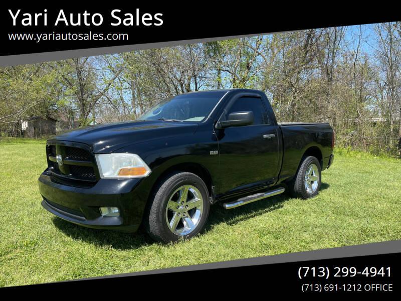 2012 RAM Ram Pickup 1500 for sale at Yari Auto Sales in Houston TX