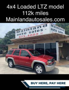 2002 Chevrolet TrailBlazer for sale at Mainland Auto Sales Inc in Daytona Beach FL