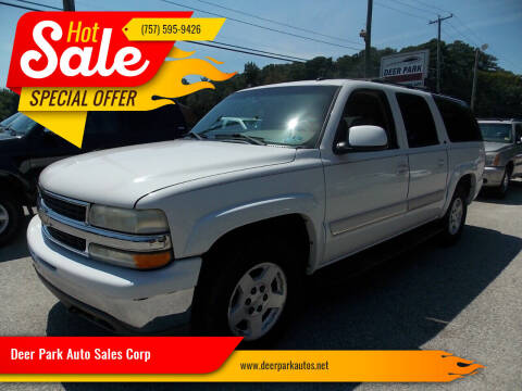 2004 Chevrolet Suburban for sale at Deer Park Auto Sales Corp in Newport News VA