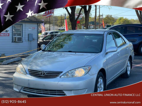 2005 Toyota Camry for sale at Central Union Auto Finance LLC in Austin TX