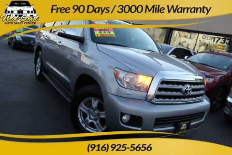 2008 Toyota Sequoia for sale at West Coast Auto Sales Center in Sacramento CA