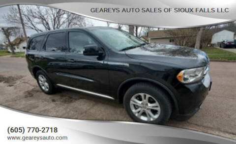 2012 Dodge Durango for sale at Geareys Auto Sales of Sioux Falls, LLC in Sioux Falls SD