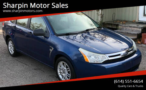 2008 Ford Focus for sale at Sharpin Motor Sales in Columbus OH