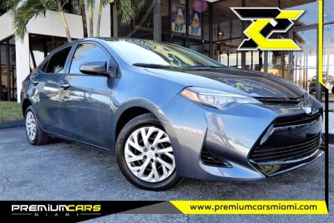 2018 Toyota Corolla for sale at Premium Cars of Miami in Miami FL