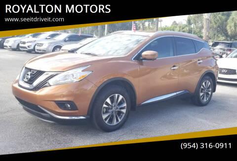 2017 Nissan Murano for sale at ROYALTON MOTORS in Plantation FL