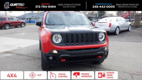 2016 Jeep Renegade for sale at Quattro Motors 2 - 1 in Redford MI