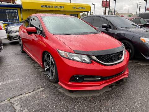 2015 Honda Civic for sale at New Wave Auto Brokers & Sales in Denver CO