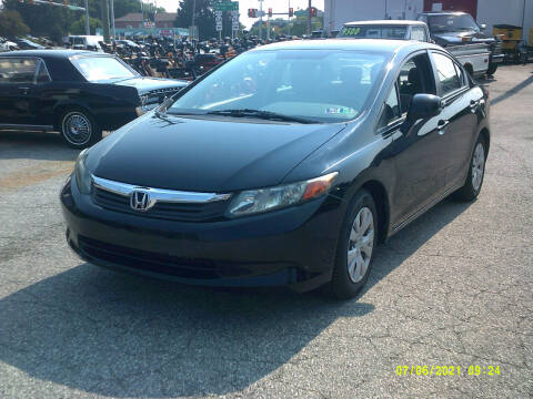 2012 Honda Civic for sale at M & M Inc. of York in York PA