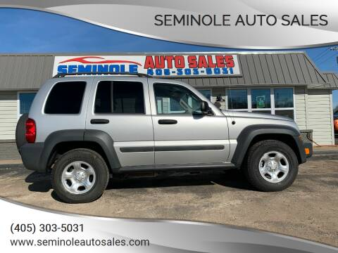 2006 Jeep Liberty for sale at Seminole Auto Sales in Seminole OK
