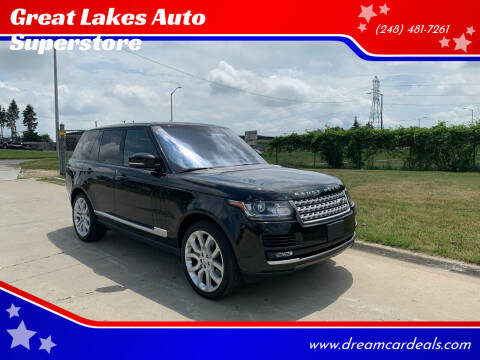 2019 Land Rover Range Rover for sale at Great Lakes Auto Superstore in Pontiac MI