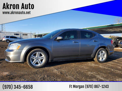 2012 Dodge Avenger for sale at Akron Auto - Fort Morgan in Fort Morgan CO
