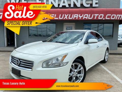 2014 Nissan Maxima for sale at Texas Luxury Auto in Cedar Hill TX