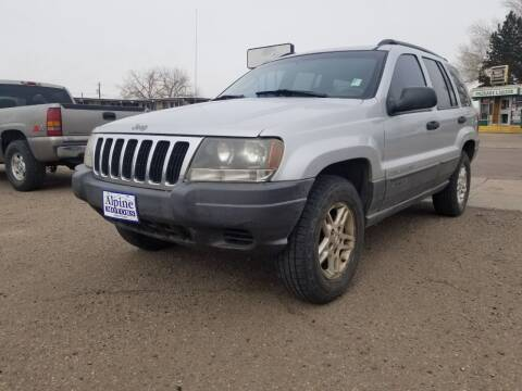 2002 Jeep Grand Cherokee for sale at Alpine Motors LLC in Laramie WY