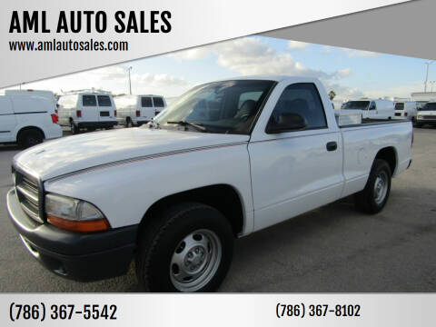 2001 Dodge Dakota for sale at AML AUTO SALES - Pick-up Trucks in Opa-Locka FL