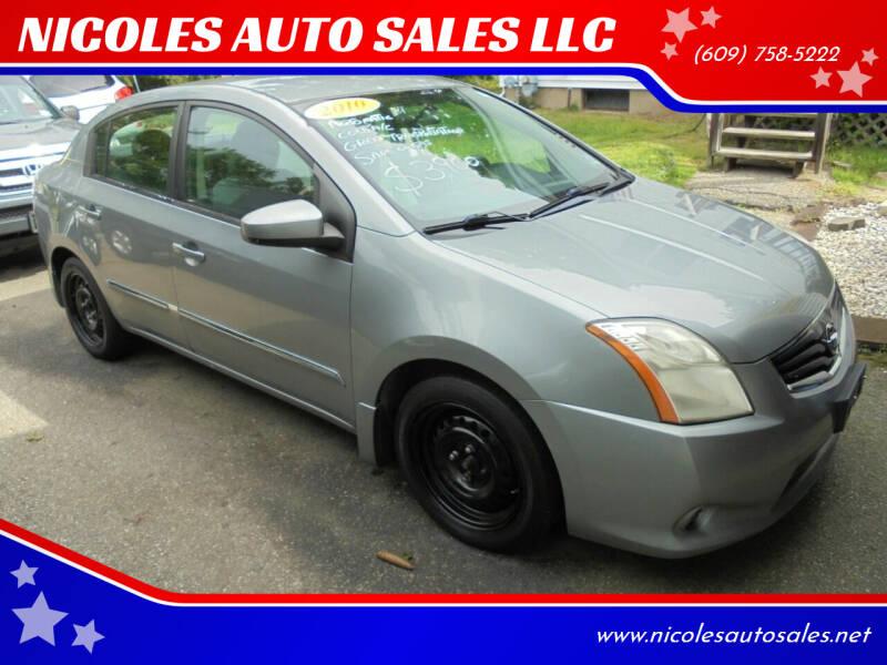 2010 Nissan Sentra for sale at NICOLES AUTO SALES LLC in Cream Ridge NJ