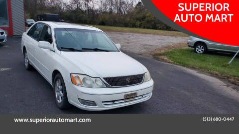 2001 Toyota Avalon for sale at SUPERIOR AUTO MART in Amelia OH