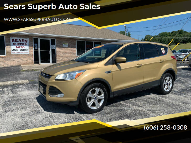 2015 Ford Escape for sale at Sears Superb Auto Sales in Corbin KY