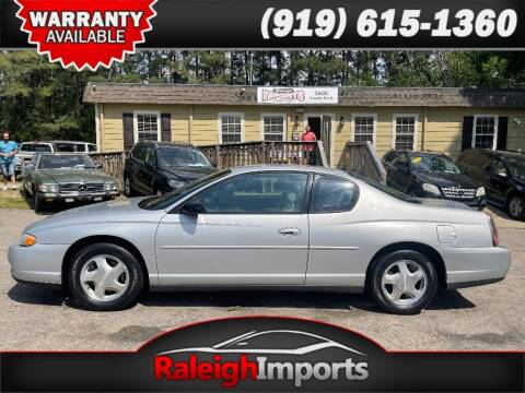 2003 Chevrolet Monte Carlo for sale at Raleigh Imports in Raleigh NC