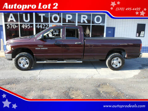 2004 Dodge Ram Pickup 2500 for sale at Autopro Lot 2 in Sunbury PA