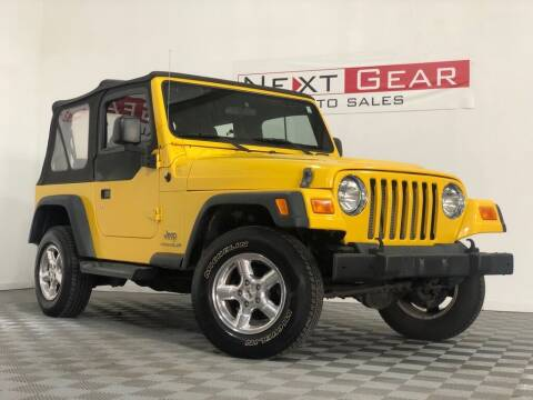 2006 Jeep Wrangler for sale at Next Gear Auto Sales in Westfield IN