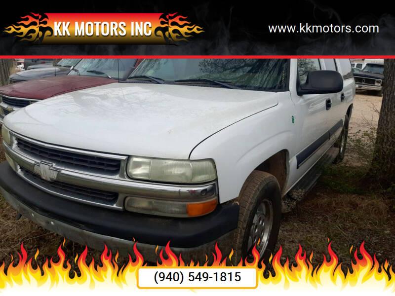 2002 Chevrolet Suburban for sale at KK Motors Inc in Graham TX