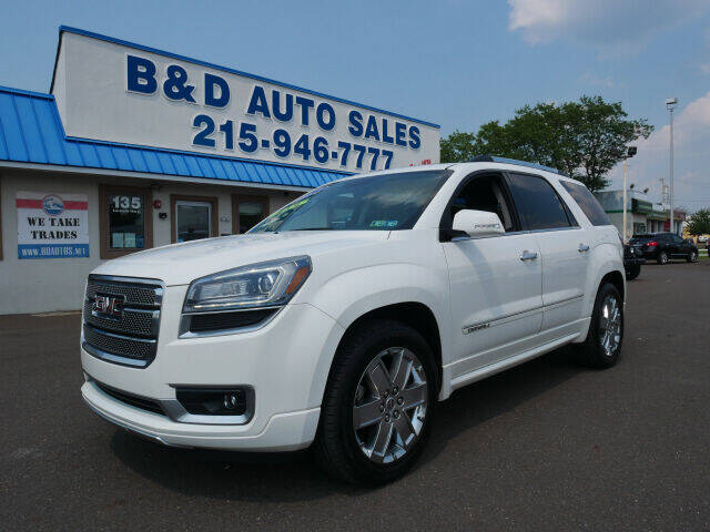2013 GMC Acadia for sale at B & D Auto Sales Inc. in Fairless Hills PA