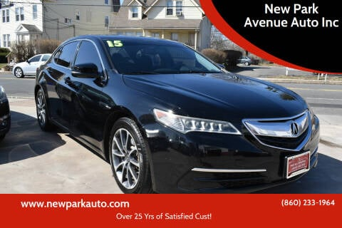 2015 Acura TLX for sale at New Park Avenue Auto Inc in Hartford CT