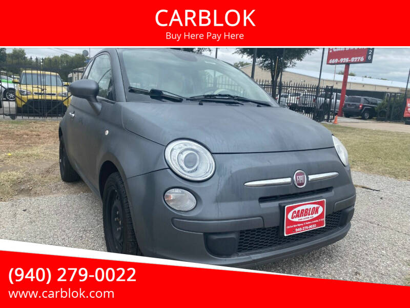 2014 FIAT 500 for sale at CARBLOK in Lewisville TX