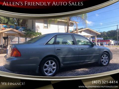 2002 Toyota Avalon for sale at Allen's Friendly Auto Sales in Sanford FL