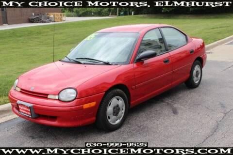 1995 Dodge Neon for sale at My Choice Motors Elmhurst in Elmhurst IL