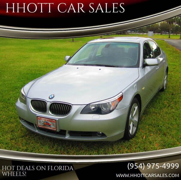 2007 BMW 5 Series for sale at HHOTT CAR SALES in Deerfield Beach FL