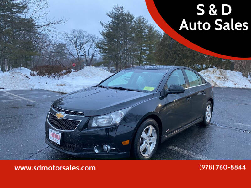 2012 Chevrolet Cruze for sale at S & D Auto Sales in Maynard MA
