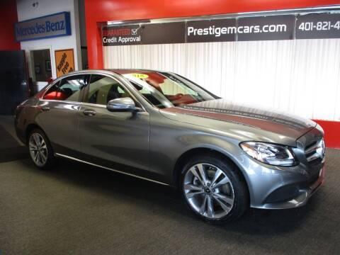 2018 Mercedes-Benz C-Class for sale at Prestige Motorcars in Warwick RI